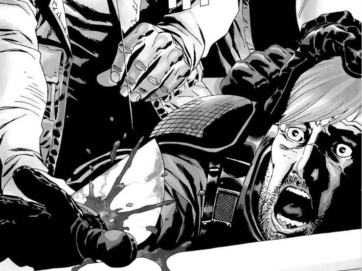 diferencias entre el cómic The Walking Dead y la serie mano rick