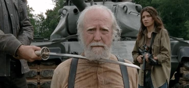 diferencias entre el cómic The Walking Dead y la serie muerte hershel