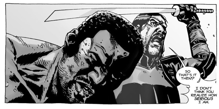 diferencias entre el cómic The Walking Dead y la serie muerte tyreese
