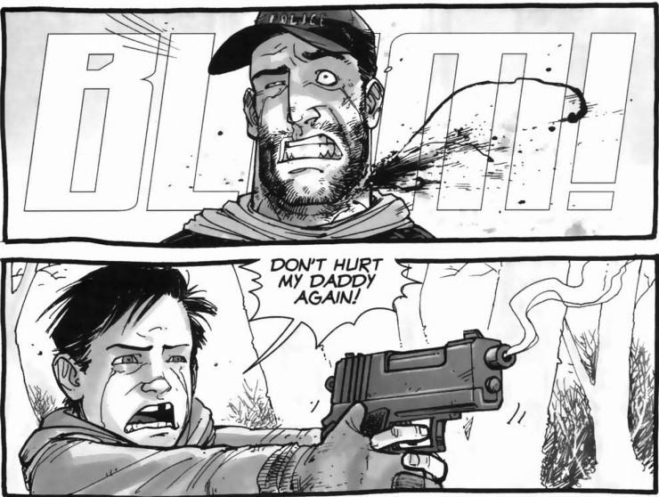 diferencias entre el cómic The Walking Dead y la serie shane muerte