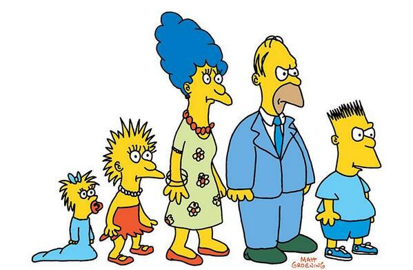 primera aparición de Los Simpson