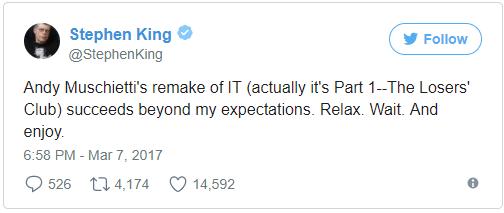 La opinión de Stephen King sobre sus adaptaciones