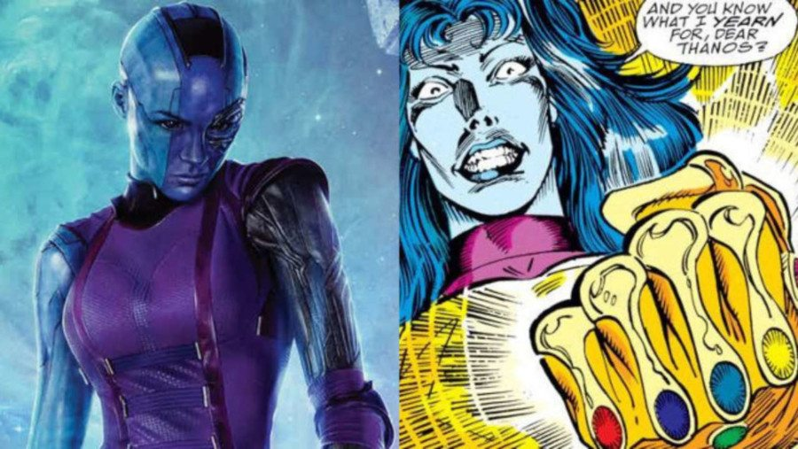 nébula diferencias infinity war película y comic