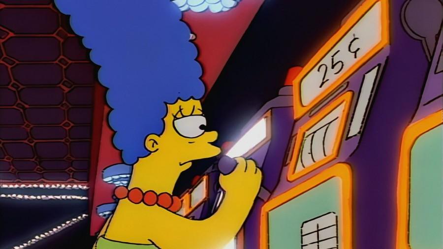 simpsons casino episodio marge adicta al juego
