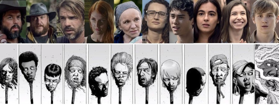 diferencias the walking dead muertes feria comic serie