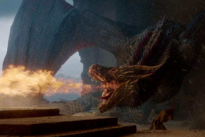 dragon quema el trono de hierro